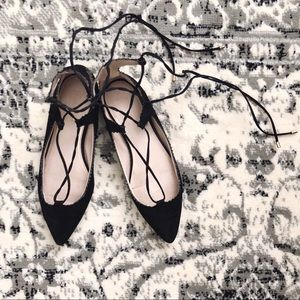 Topshop x Nordstrom 'Finest Shillie' Lace-up Flat